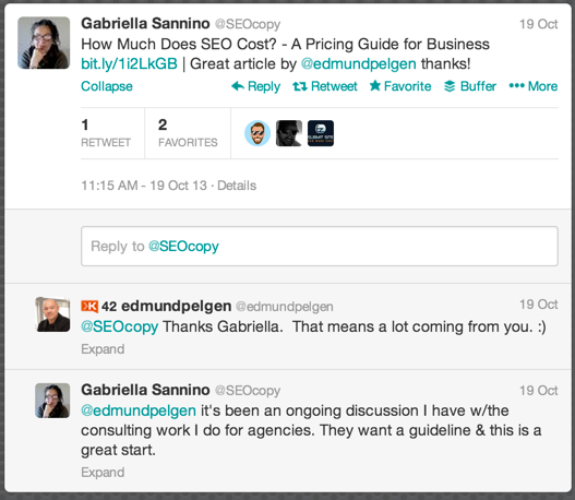 "Gabrialla Sannino refers to the blog post as a ""citable guideline"" for clients"